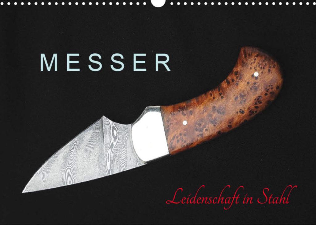 "Titelblatt des Messerkalenders ""Leidenschaft in Stahl"""