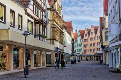 Blick in Soester Einkaufsstraße
