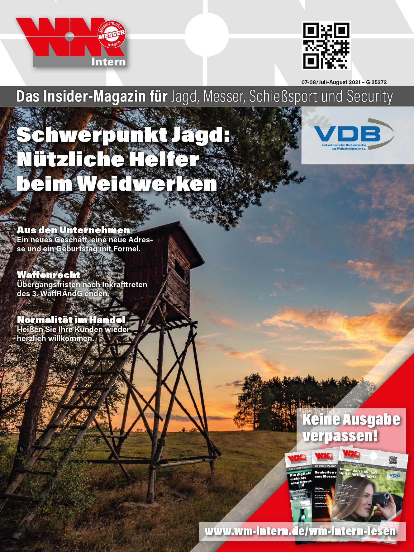 Cover WM-Intern Juli-August-Ausgabe 2021