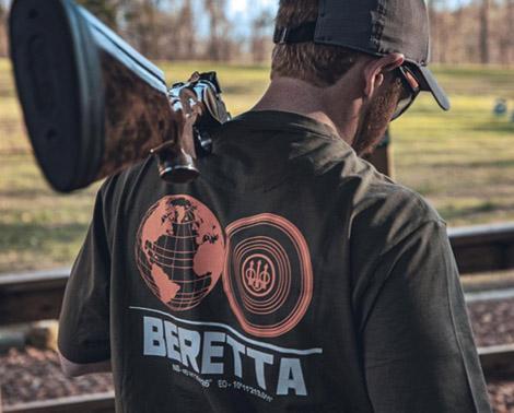 Beretta T-Shirt an Flintenschütze