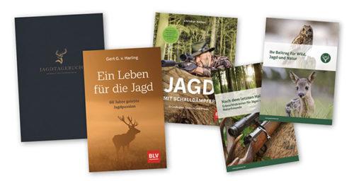 Collage Jagdbücher und -broschüren
